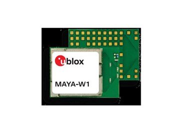 u-blox launches MAYA-W1 Wi-Fi 4 and Bluetooth 5 multiradio module