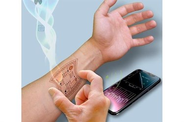 Energy harvested from radio waves to power wearable devices