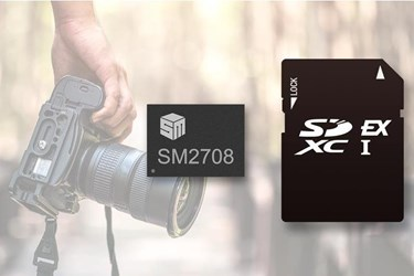 SM2708 SD Express controller supports SD 8.0 specification