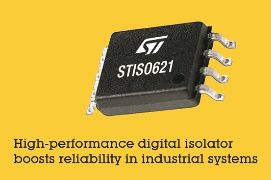 Digital Isolator from STMicroelectronics Boosts Performance and Reliability Using New Thick-Oxide Galvanic Isolation Technology