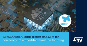 STM32Cube.AI development environment gets more ML support