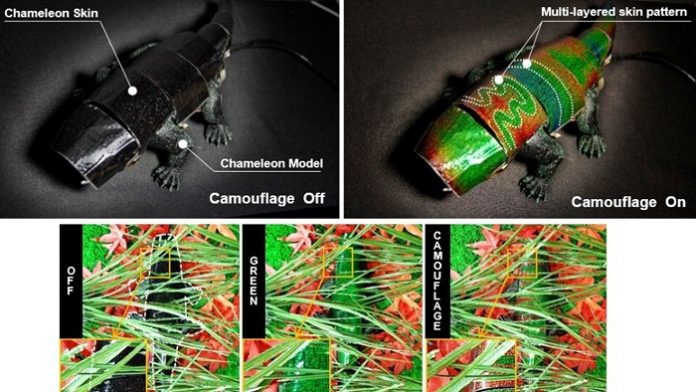 Soft Robot Chameleon Changes Color in Real-time to Match Background