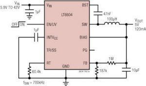 Anglia promotes 3.2-42Vin 120mA out dc-dc buck converter