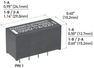 UK made: Pickering high-voltage reed relays have lower power coils