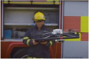 5G connected tethered drone able to support emergency services