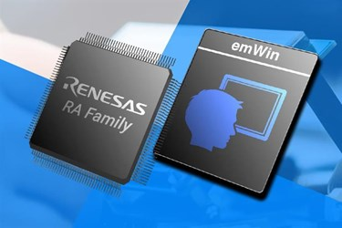 Renesas extends emWin license to include all RA MCUs