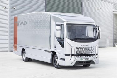 Tevva unveils first UK electric truck for mass production